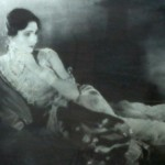Leela, one of the stars of 'Sairandhari' 1933. Photograph is in the Prabhat studio museum, FTII, Pune.