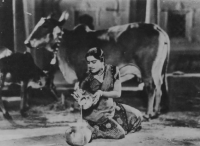 [Image caption: Shanta Apte played the role of Radha, the god Krishna's beloved girl cow-drover.]