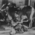 Shanta Apte played the role of Radha, the god Krishna's beloved girl cow-drover