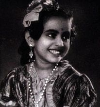 """Baby Saroja"" in Balayogini Source:  http://en.wikipedia.org/wiki/Balayogini#mediaviewer/File:Balayogini_1937film.jpg Last accesed: May 2014"